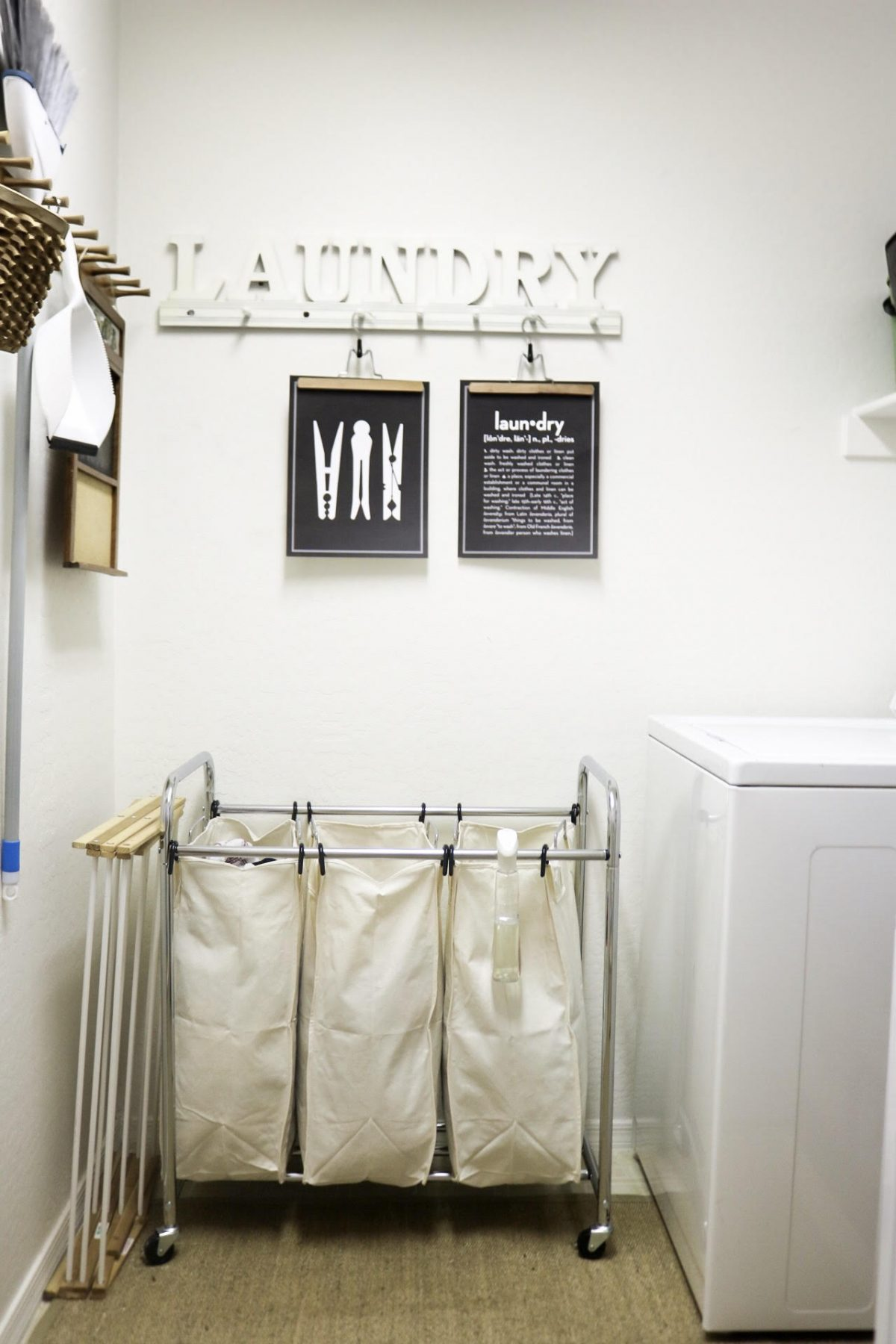 how to simplify your laundry room